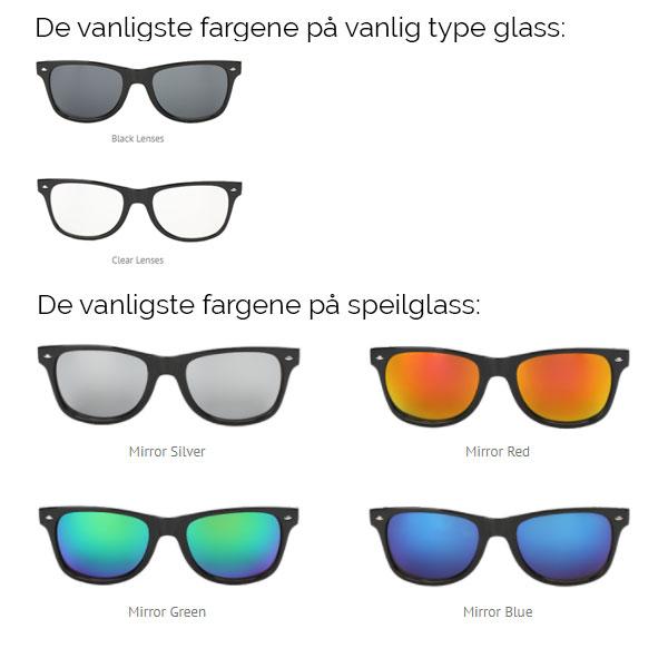 Solbriller med logo eller trykk